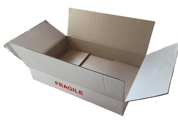 Fiche produit caisse américaine imprimée fragile
