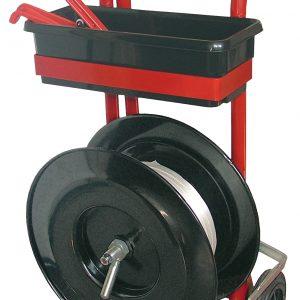 fiche produit dévidoir feuillard textile avec roues