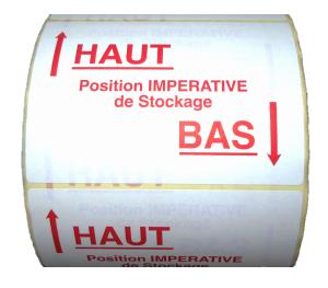 Fiche produit bobine à étiquettes haut-bas