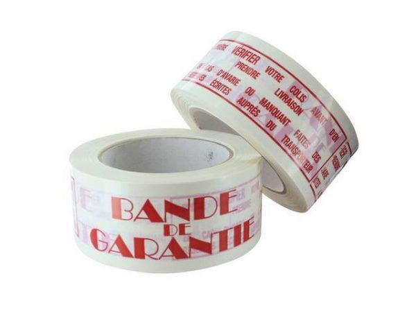 fiche produit du ruban adhésif imprimé bande de garantie