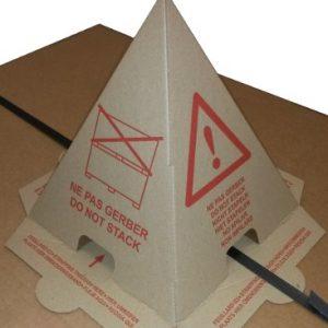 fiche produit du cône anti-gerbage avec adhésif