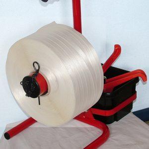 fiche produit du dévidoir feuillard textile sans roue