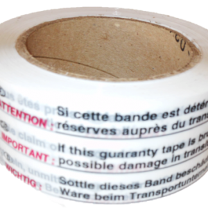 Fiche produit du Ruban adhésif PP acrylique bande de garantie